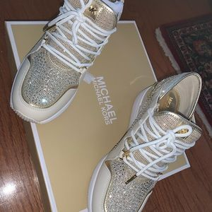Michael Kors Shoes - Michael Kors sneakers! So fancy and glittery